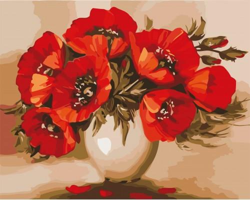Раскраски по номерам Цветы
