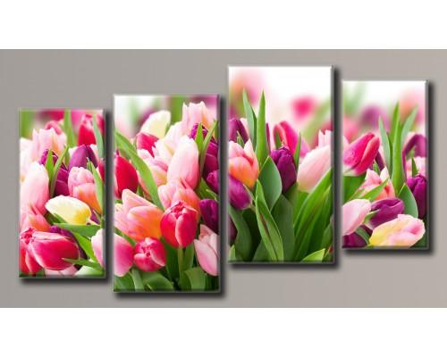 Картины модульные Цветы