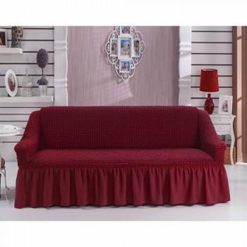 Чехол на диван Arya Burumcuk трехместный бордовый арт.1063212