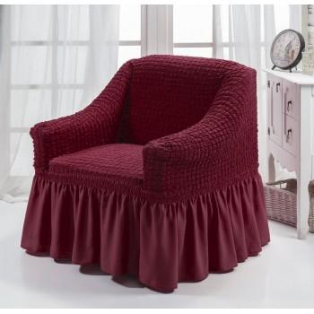 Чехол на кресло Arya Burumcuk одноместный бордовый арт.1063214