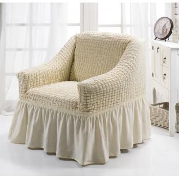 Чехол на кресло Arya Burumcuk одноместный кремовый арт.1063214