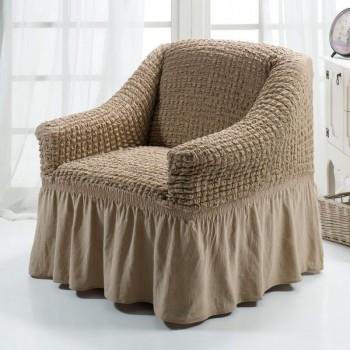 Чехол на кресло Arya Burumcuk одноместный слоновая кость арт.1063214