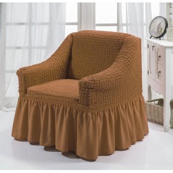 Чехол на кресло Arya Burumcuk одноместный темно-горчичный арт.1063214