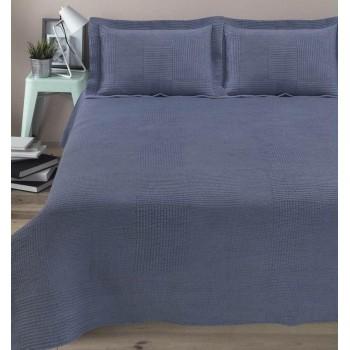 Покрывало с наволочками Arya Elexus полуторное 180*240 см + 1 наволочка 50*70+5 см полиэстер голубое арт.TR1004336