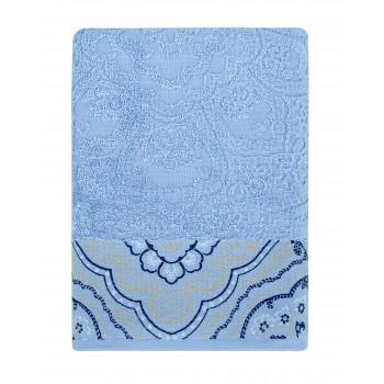 Полотенце для лица Arya Amonde 50*90 см махровое жаккардовое банное голубое арт.TR1006384