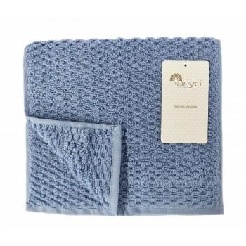 Полотенце для лица Arya Arno 30*50 см махровое банное голубое арт.TR1002180