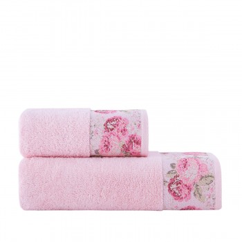 Полотенце для лица Arya Desima 50*90 см махровое банное розовое арт.TR1002516