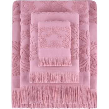 Полотенце для лица Arya Isabel Soft 30*50 см махровое жаккардовое банное коралловое арт.TR1002486
