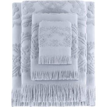 Полотенце для лица Arya Isabel Soft 50*90 см махровое жаккардовое банное серое арт.TR1002487