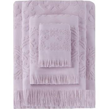 Полотенце для лица Arya Isabel Soft 50*90 см махровое жаккардовое банное пудра арт.TR1002487