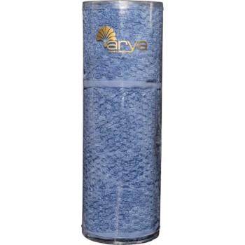 Набор полотенец для лица Arya Arno 30*50 см + 50*90 см махровые банные в тубусе голубой арт.TRK111000022347