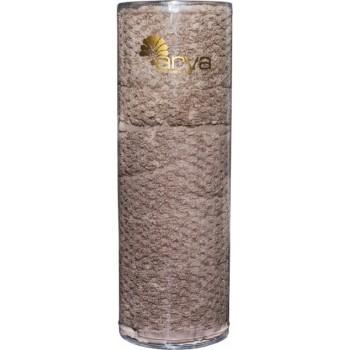 Набор полотенец для лица Arya Arno 30*50 см + 50*90 см махровые банные в тубусе коричневый арт.TRK111000022347
