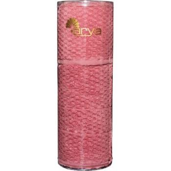 Набор полотенец для лица Arya Arno 30*50 см + 50*90 см махровые банные в тубусе розовый арт.TRK111000022347
