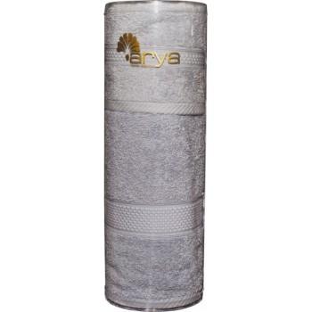 Набор полотенец для лица Arya Miranda Soft 30*50 см + 50*90 см махровые банные в тубусе серый арт.TRK111000022349