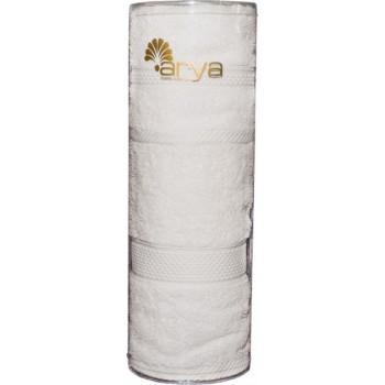 Набор полотенец для лица Arya Miranda Soft 30*50 см + 50*90 см махровые банные в тубусе белый арт.TRK111000022349