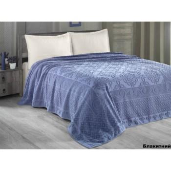 Простынь Arya Estafan полуторная 160*220 см махровая голубая арт.TR1003899