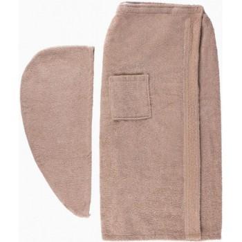 Набор полотенец для сауны Arya Sante махровый женский 2 предмета бежевый арт.TR1003688