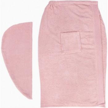 Набор полотенец для сауны Arya Sante махровый женский 2 предмета розовый арт.TR1003688