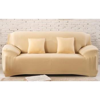 Чехол на диван Homytex двухместный 145*185 см бифлекс бежевый арт.6-12154