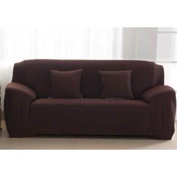 Чехол на диван Homytex двухместный 145*185 см бифлекс кофейный см арт.6-12155