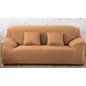Чехол на диван Homytex двухместный 145*185 см бифлекс песочный арт.6-12156