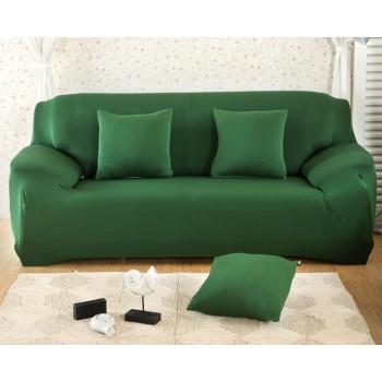 Чехол на диван Homytex двухместный 145*185 см бифлекс зеленый арт.6-12160