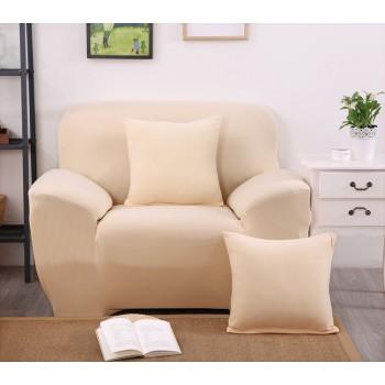 Чехол на кресло Homytex одноместный 90*140 см бифлекс бежевый арт.6-12185
