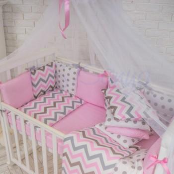 Балдахин Маленькая Соня Baby белый с розовой лентой детский арт.051909