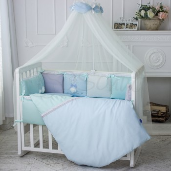 Балдахин Маленькая соня Зайчики голубой детский арт.053807