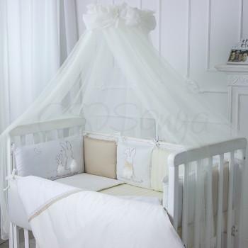 Балдахин Маленькая соня Зайчики молочный детский арт.053835