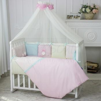 Балдахин Маленькая соня Зайчики розовый детский арт.053809