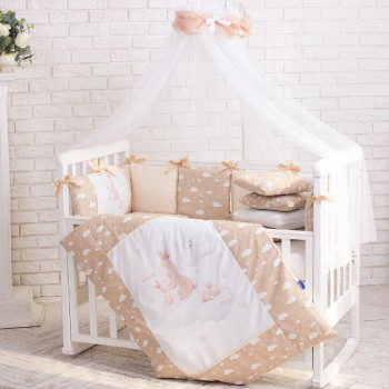 Балдахин Маленькая соня Akvarel 4 м с кофейным шарфиком детский арт.053541