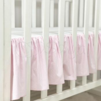 Простынь с юбкой Маленькая Соня детская 60*120*13 см поплин на резинке розовая арт.900009