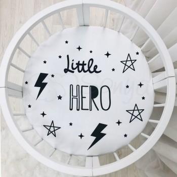 Простынь Маленькая Соня Little Hero детская 70*70*13 см круглая поплин на резинке арт.9580410