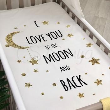 Простынь Маленькая Соня Moon детская 60*120*13 см стандарт поплин на резинке арт.1780474