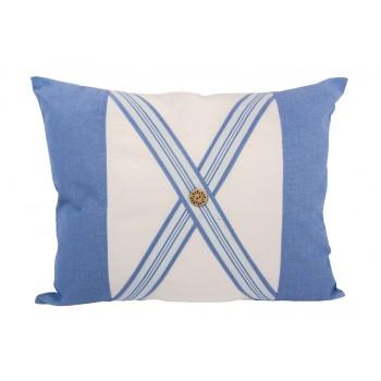 Подушка декоративная LiMaSo Голубая полоска 40*50 см хлопок арт.GP05.40х50