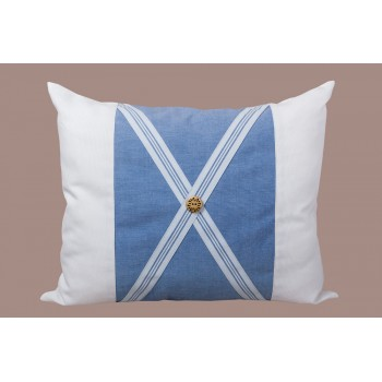 Подушка декоративная LiMaSo Голубая полоска 40*50 см хлопок арт.GP06.40х50