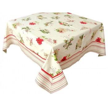 Скатерть LiMaSo Holiday Wishes 150*150 см хлопковая новогодняя арт.ТС5947.150х150