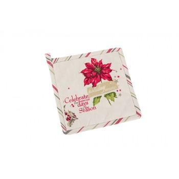Прихватка LiMaSo Holiday Wishes 20*20 см хлопковая новогодняя арт.KP1849.20х20