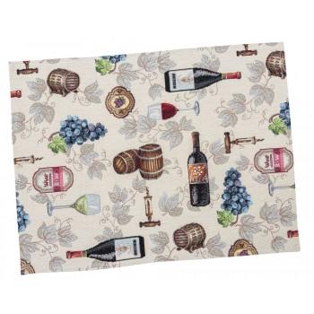 Салфетка-подкладка для кухни LiMaSo Вино 34*44 см гобеленовая арт.EDEN914-34.34х44