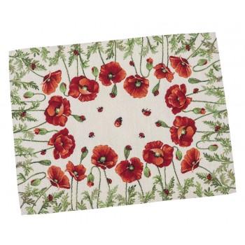 Салфетка-подкладка для кухни LiMaSo Маки 37*49 см гобеленовая арт.RUNNER759-49.37х49