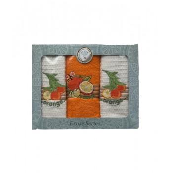 Набор полотенец для кухни Black Gold Hom Orange 50*70 см махровые в коробке 3шт