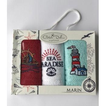 Набор полотенец для кухни Coton Delux Marin V2 30*50 см махровые в коробке 3шт