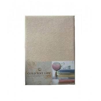 Простынь Gold Soft Life Terry Fitted Sheet 180*200*25см махровая на резинке бежевая арт.ts-02010