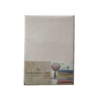 Простынь Gold Soft Life Terry Fitted Sheet 180*200*25см махровая на резинке белая арт.ts-02008