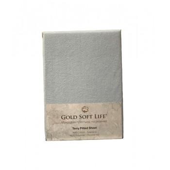 Простынь Gold Soft Life Terry Fitted Sheet 180*200*25см махровая на резинке голубая арт.ts-02014