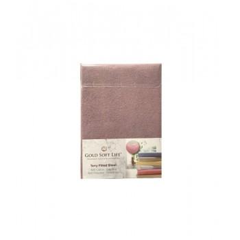 Простынь Gold Soft Life Terry Fitted Sheet 180*200*25см махровая на резинке фиолетовая арт.ts-02015