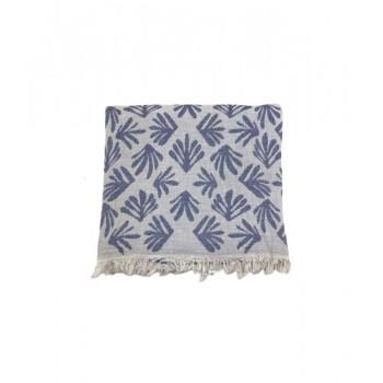 Полотенце-пештемаль пляжное Gold Soft Life Leaf 100*180 см синее арт.ts-02318