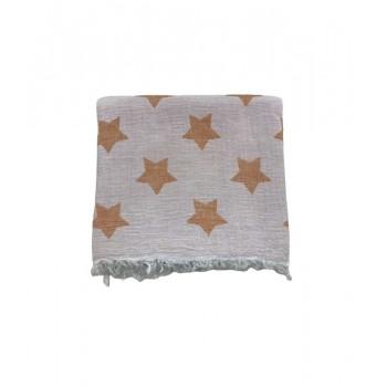 Полотенце-пештемаль пляжное Gold Soft Life Star 100*180 см оранжевое арт.ts-02304