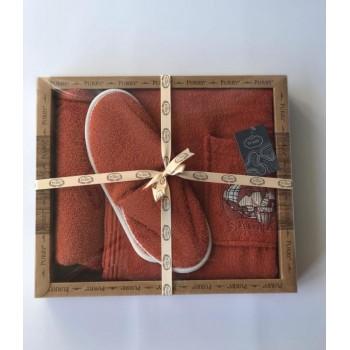 Набор для сауны Purry Кадка махровый женский 3 предмета коралловый арт.ts-01834
